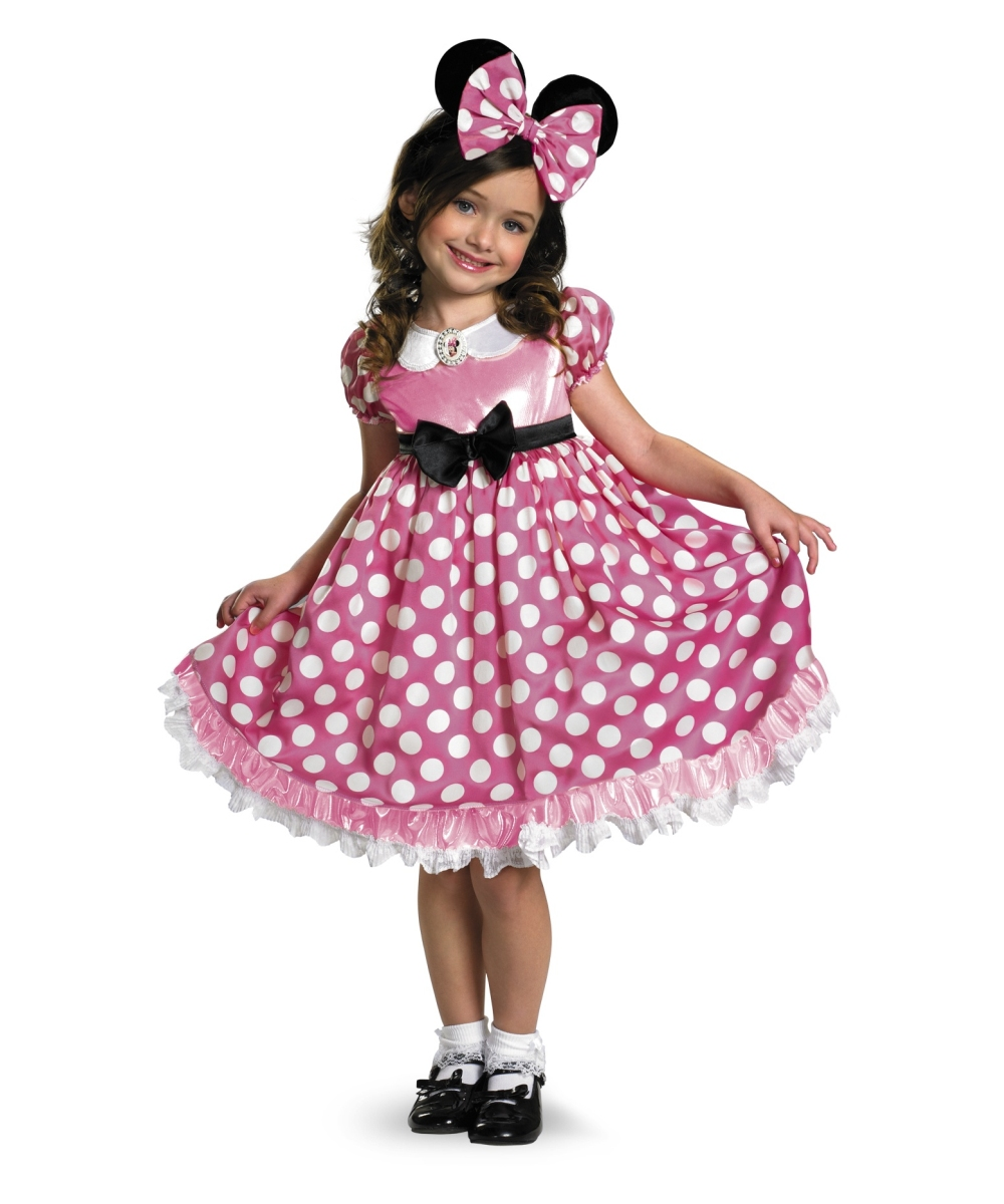 minnie mouse disney glow in the dark kids costume girls disney costumes. Black Bedroom Furniture Sets. Home Design Ideas