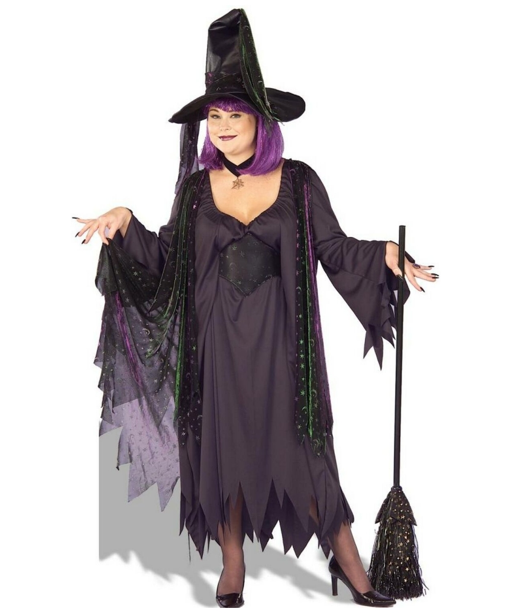 Mystic Witch Costume - Adult Plus Size Costume - Witch Halloween ...