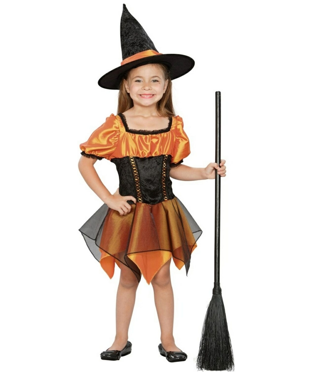Orange Adorable Witch Costume Kids Costume Witch