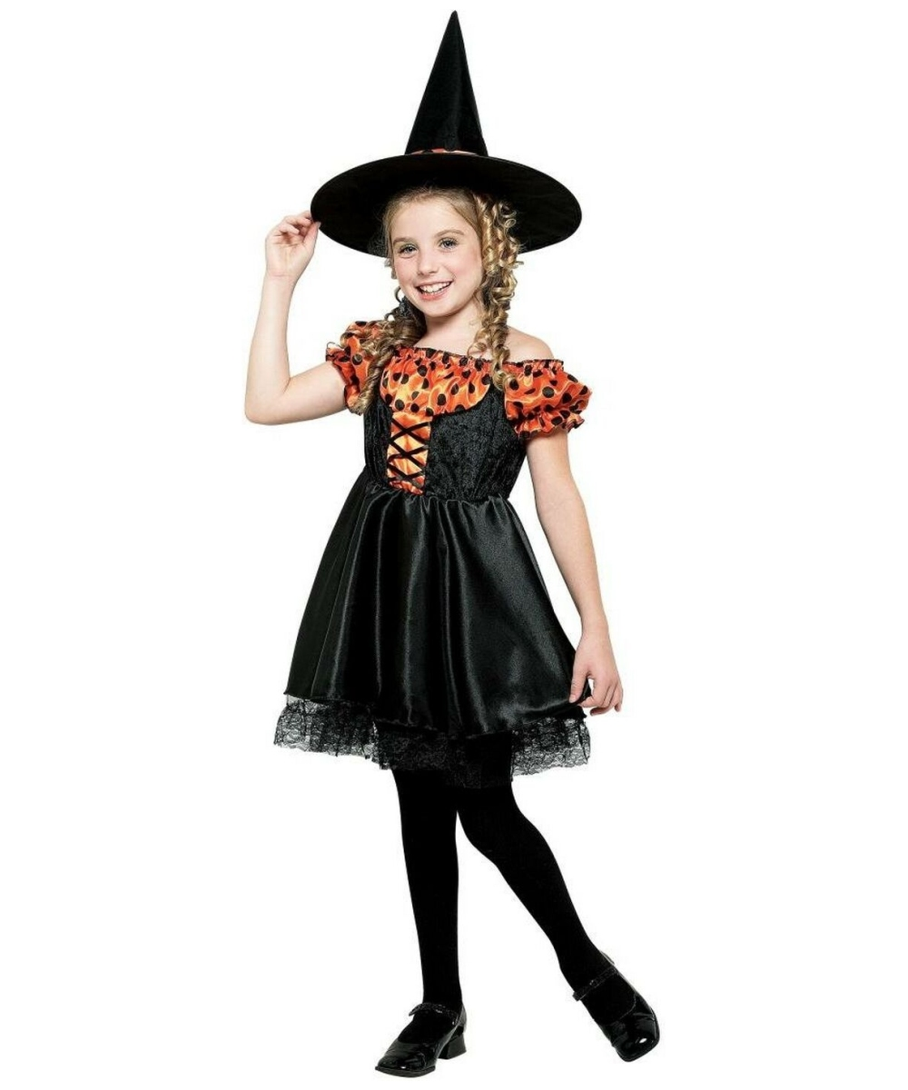 Orange Witch Costume - Kids Costume - Witch Halloween Costume at ...