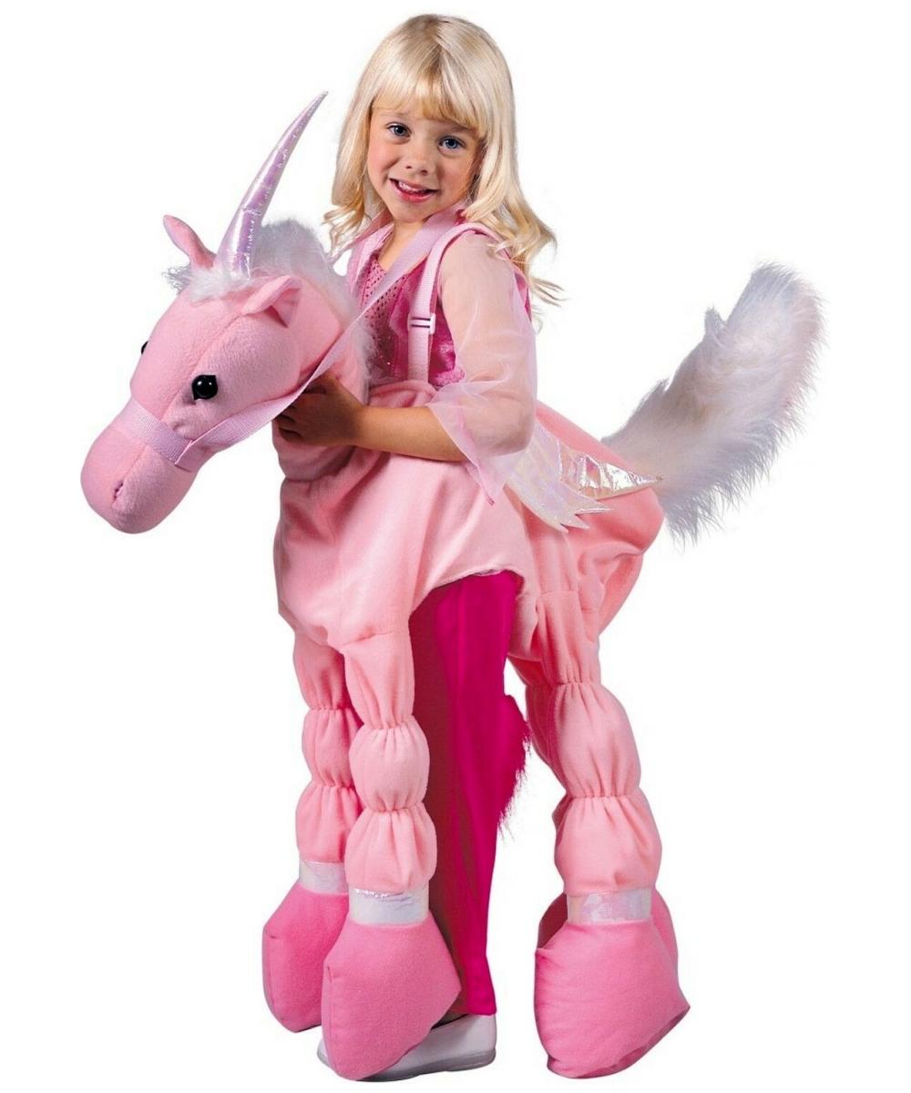Pink Ride A Unicorn Costume - Kids Halloween Costumes