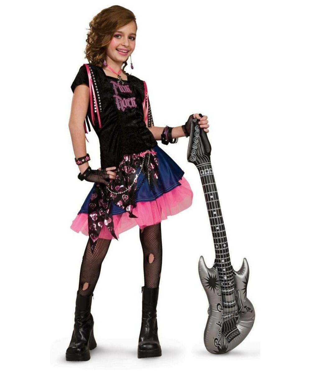 Pink rock girl costume kids costume halloween costume for Halloween costume ideas for kids girls