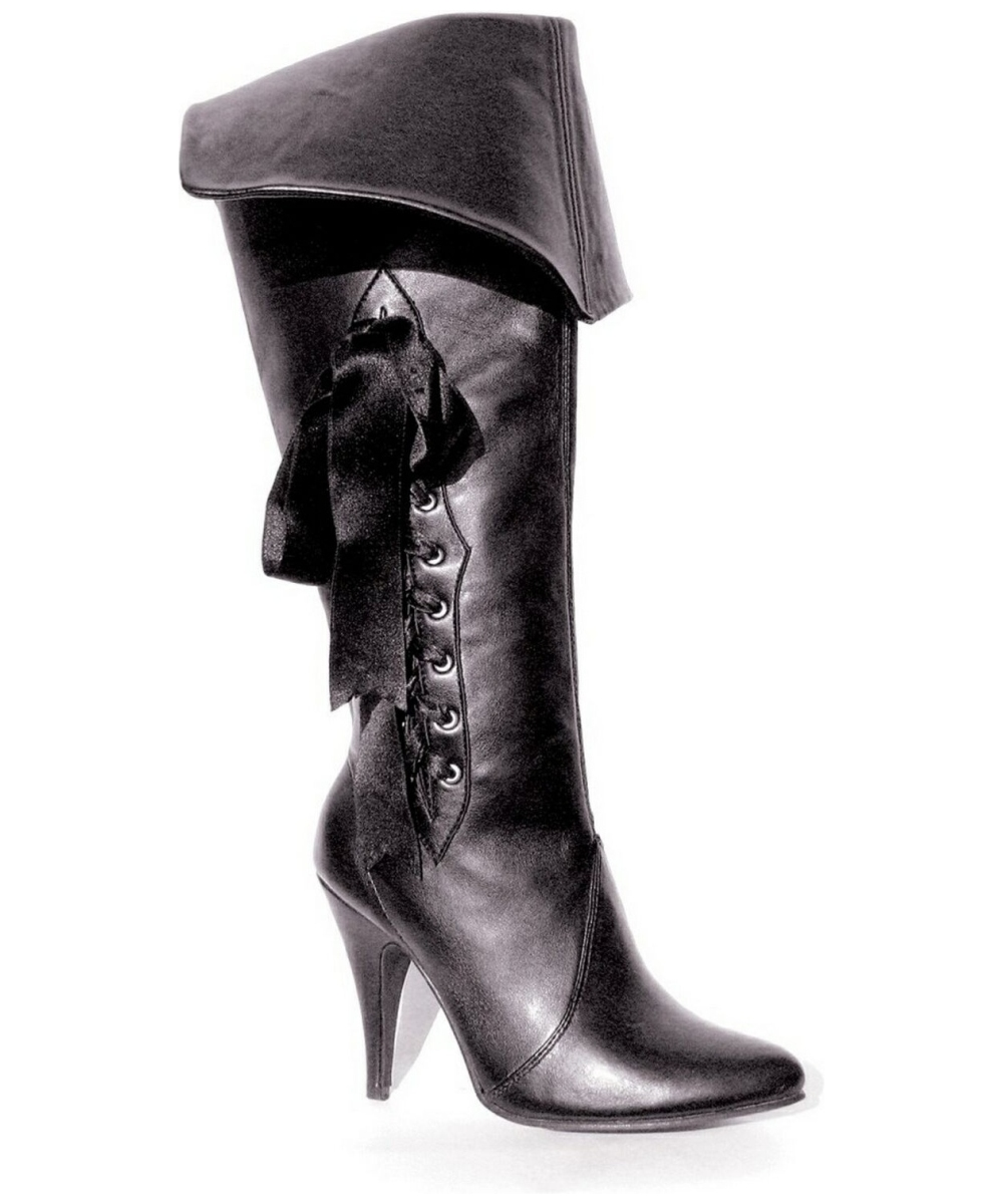 Excellent Black Pirate Boots Deluxe For Women
