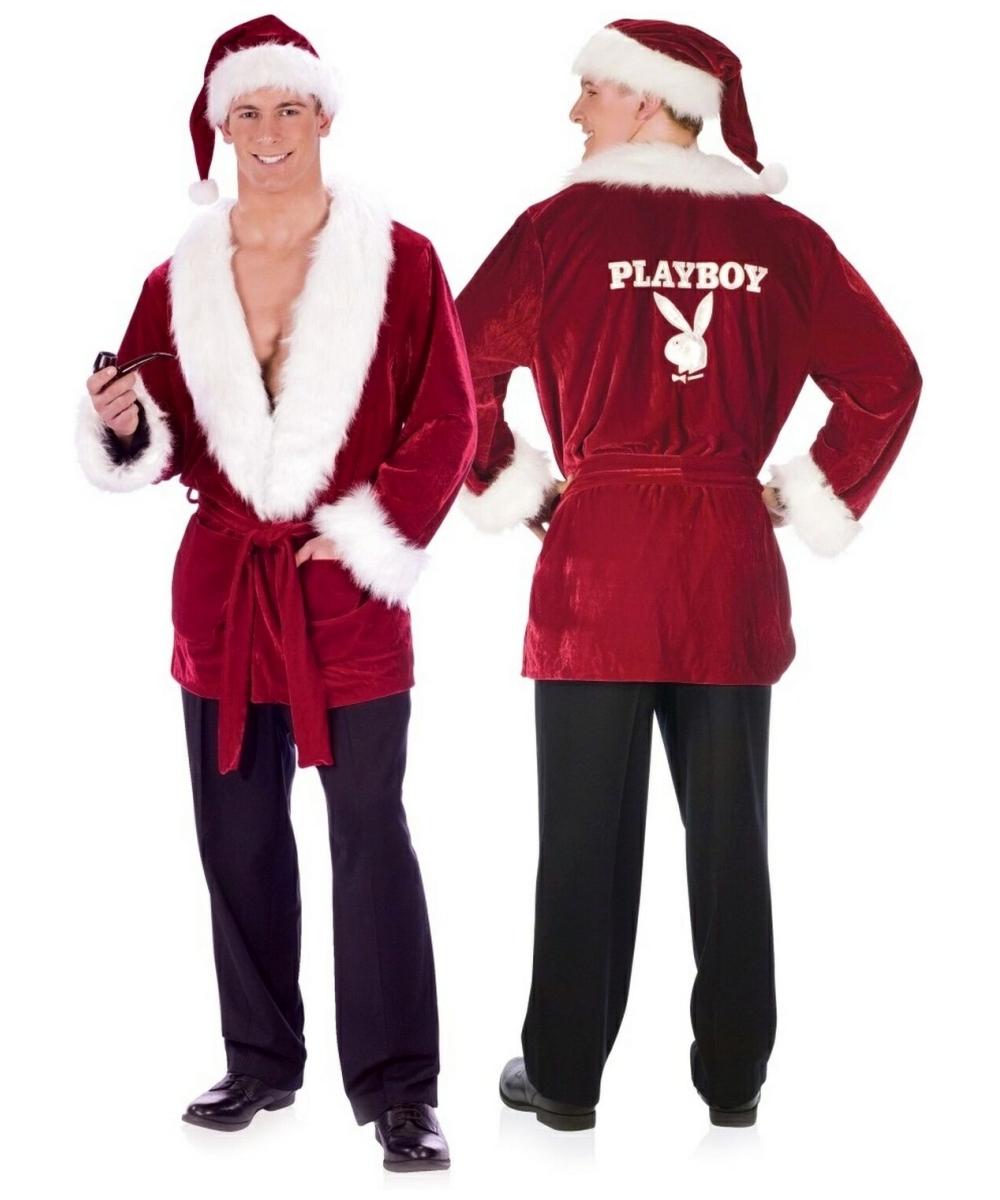 adult playboy hefs santa jacket men santa costumes