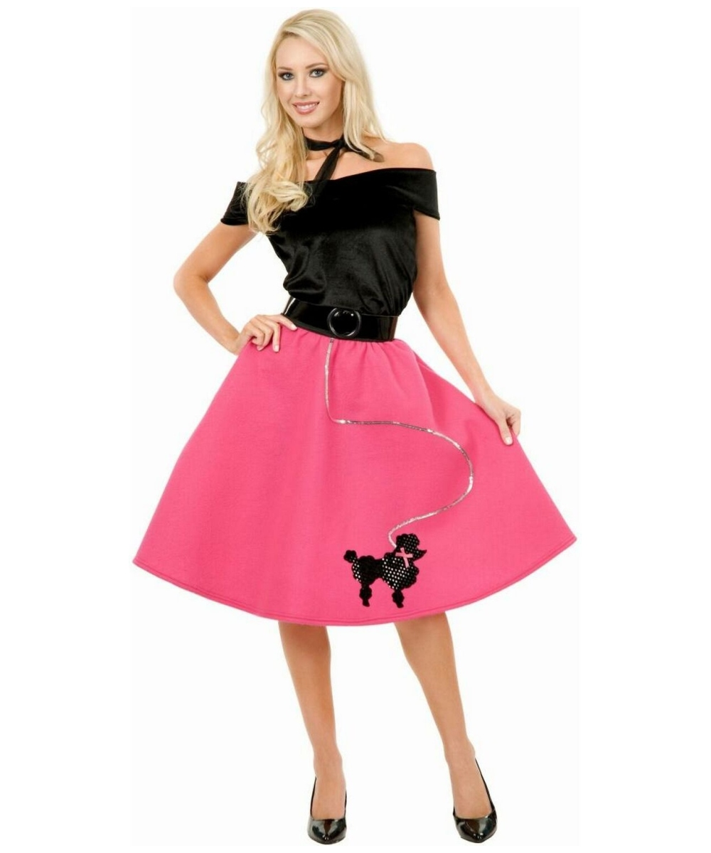 Adult Poodle Skirt 50s Costume - Women Poodle Costumes