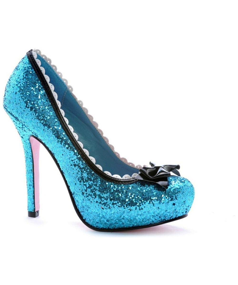 The Blue Color Scheme of Your Wedding Asking for Blue Bridal Shoes