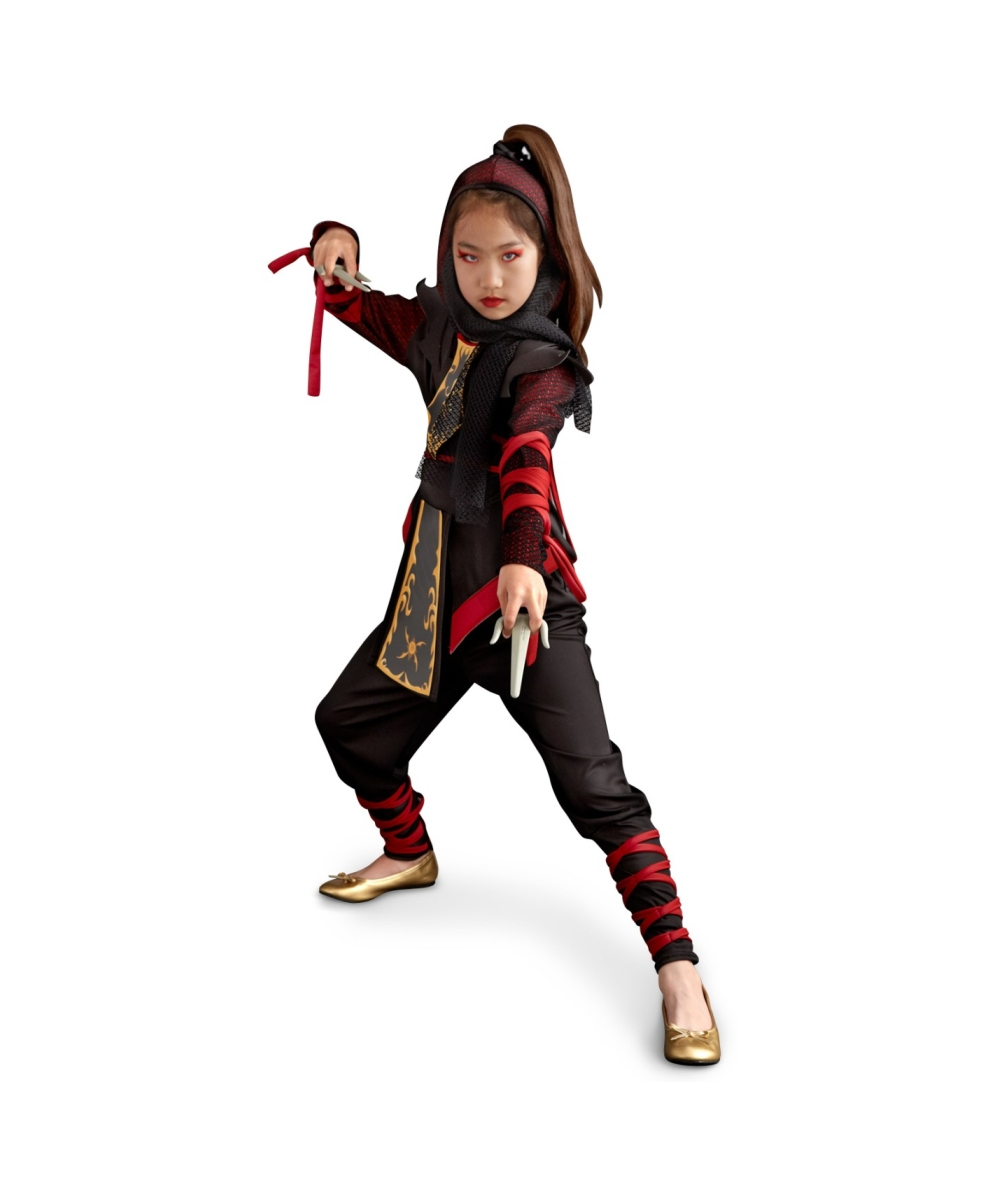 Girls dragon ninja costume