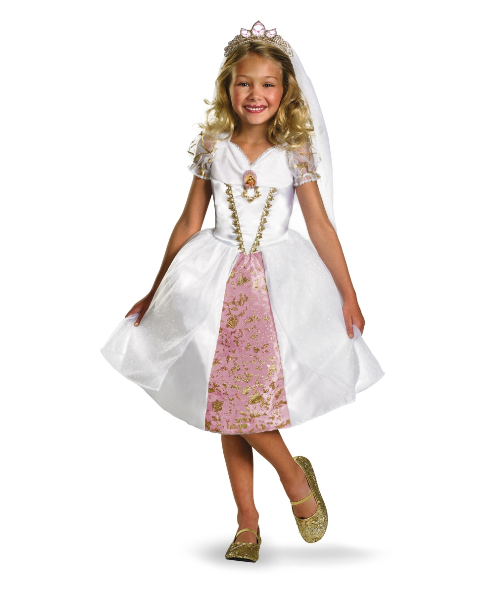 tangled rapunzel wedding gown girl costume girl disney costumes