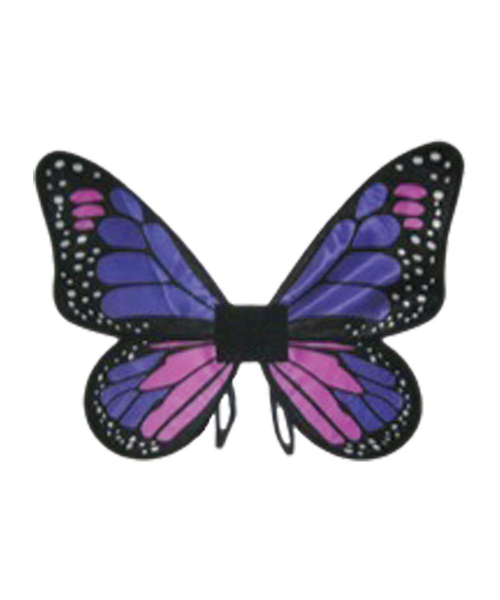 Kids Purple Satin Butterfly Wings - Girls Costumes