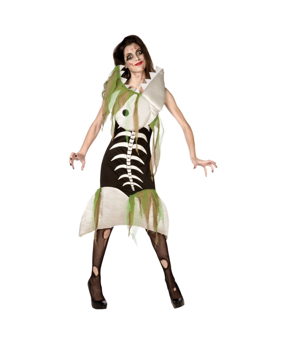 Zombie fish adult costume women 39 s costumes for Fish costume women