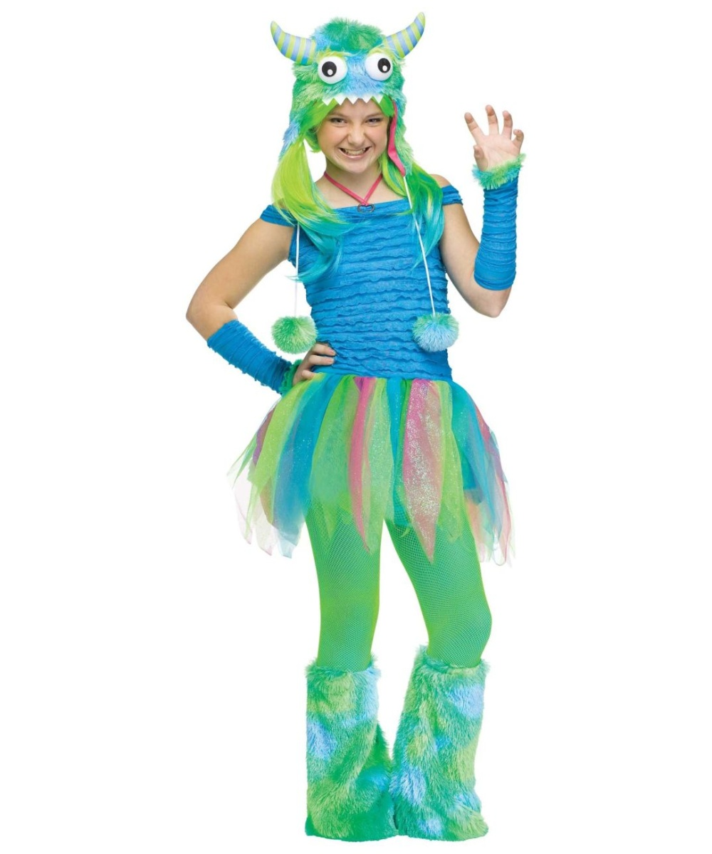 Kids Blue Beastie Teen Costume