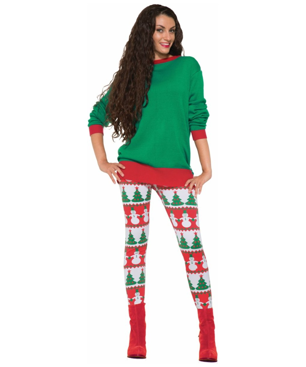 These holiday print plus size leggings make the perfect gift! Covered in gingerbread cookies, reindeer, presents and more, these cheery red bottoms hug your legs, showing off your figure.