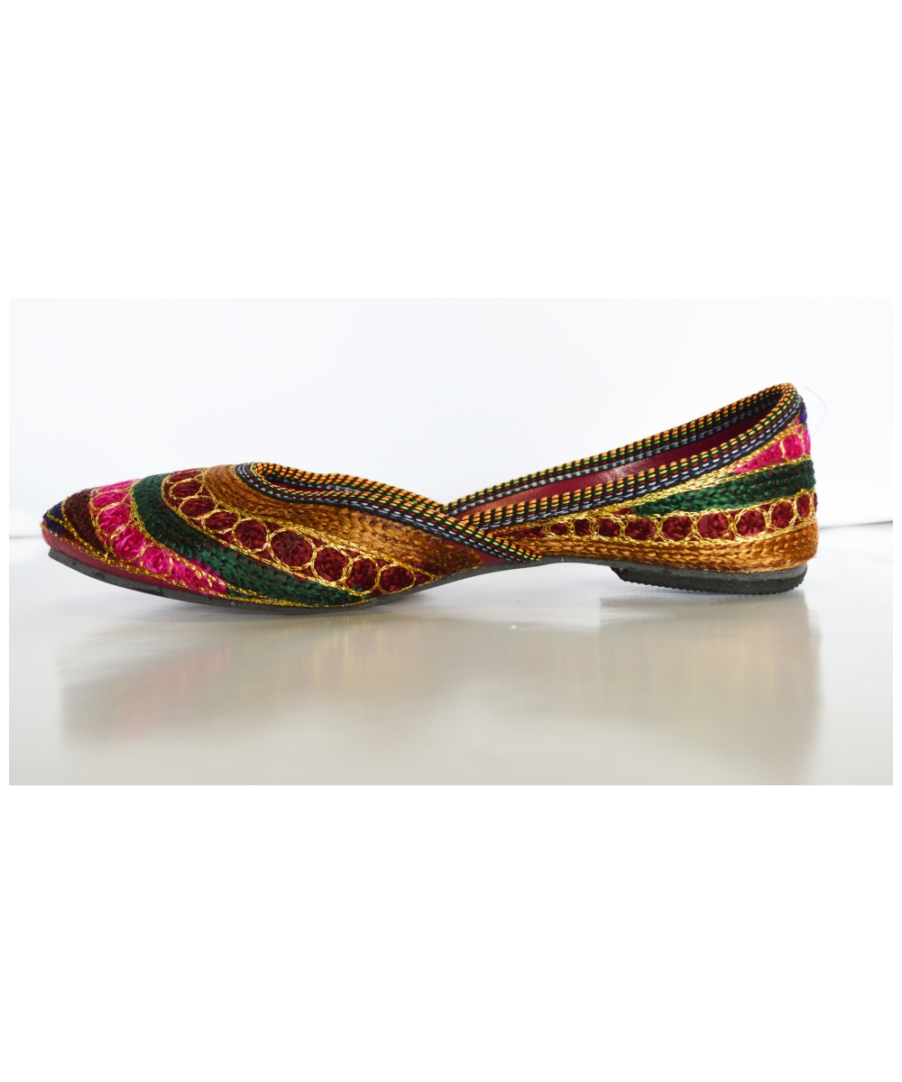 Lastest Remain In The Khussa Shoes Women Ensure You Have No Less Than A Quarterto A Halfcrawl Of Space Between Your Longest Toe And The End Of The Shoe Stroll Around In The Shoes To Decide How They Feel Is There Enough Room At The