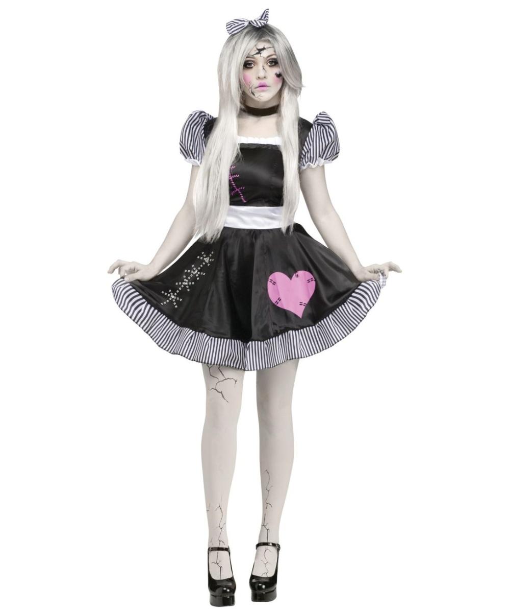 → Ghost Costumes → Broken Lolita Doll Womens Costume Deluxe