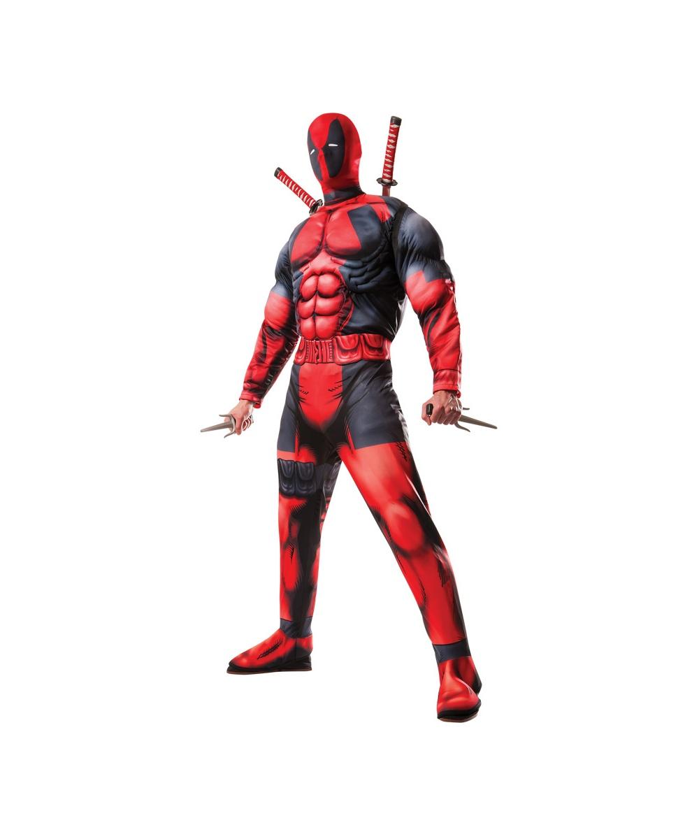 Deadpool Mens Muscle Costume - Men Costume