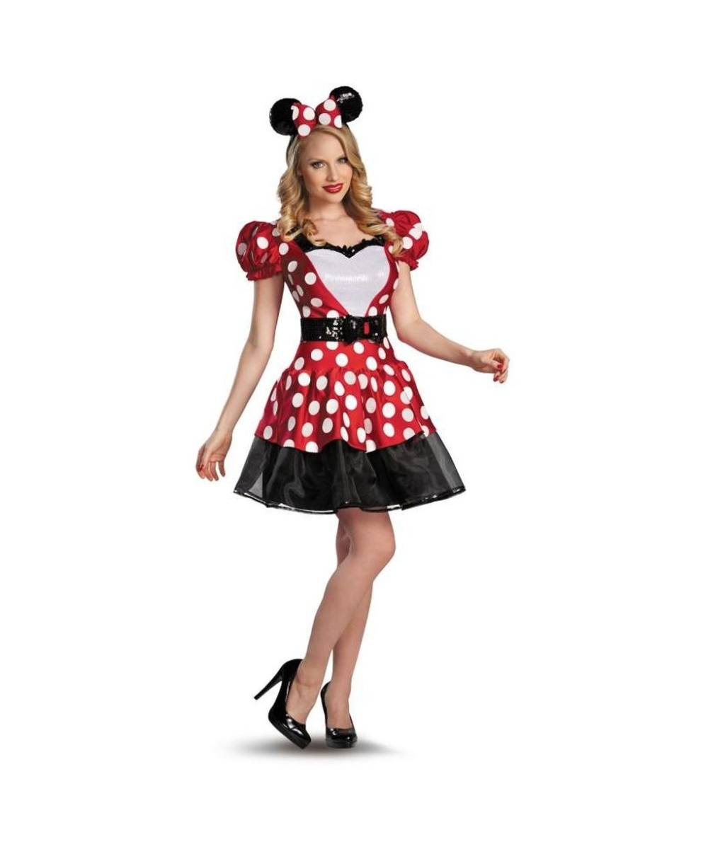 glam red minnie mouse womens costume disney costumes. Black Bedroom Furniture Sets. Home Design Ideas