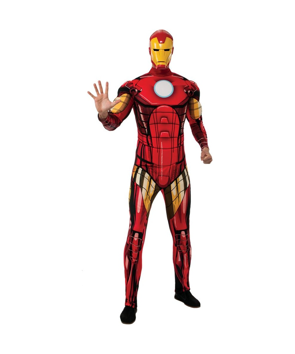 iron man mens costume men costume. Black Bedroom Furniture Sets. Home Design Ideas
