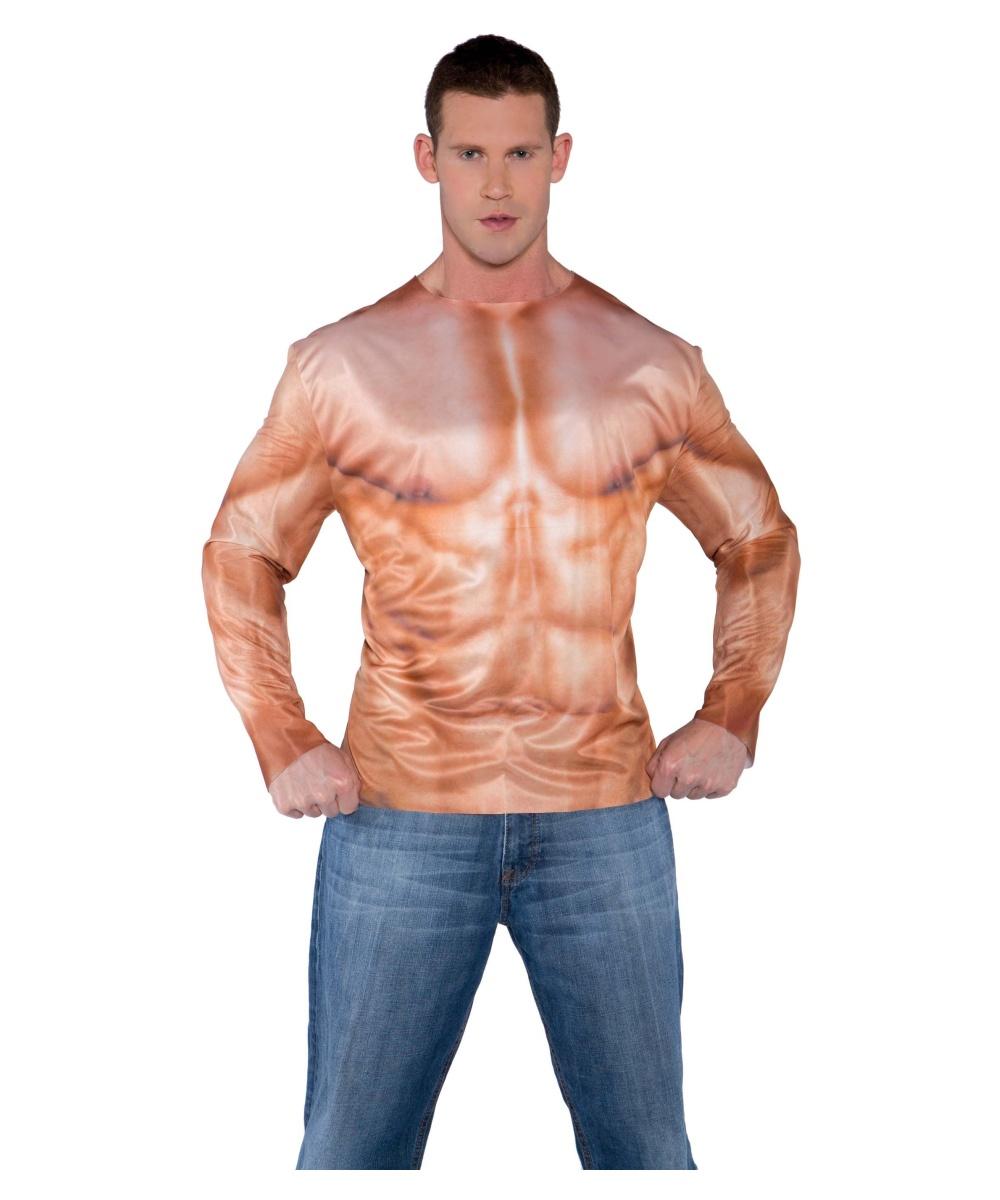 Muscle Mens Photo Real Shirt