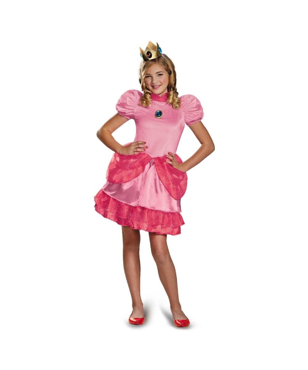 Super Mario Brothers Princess Peach Tween Costume - Video ...