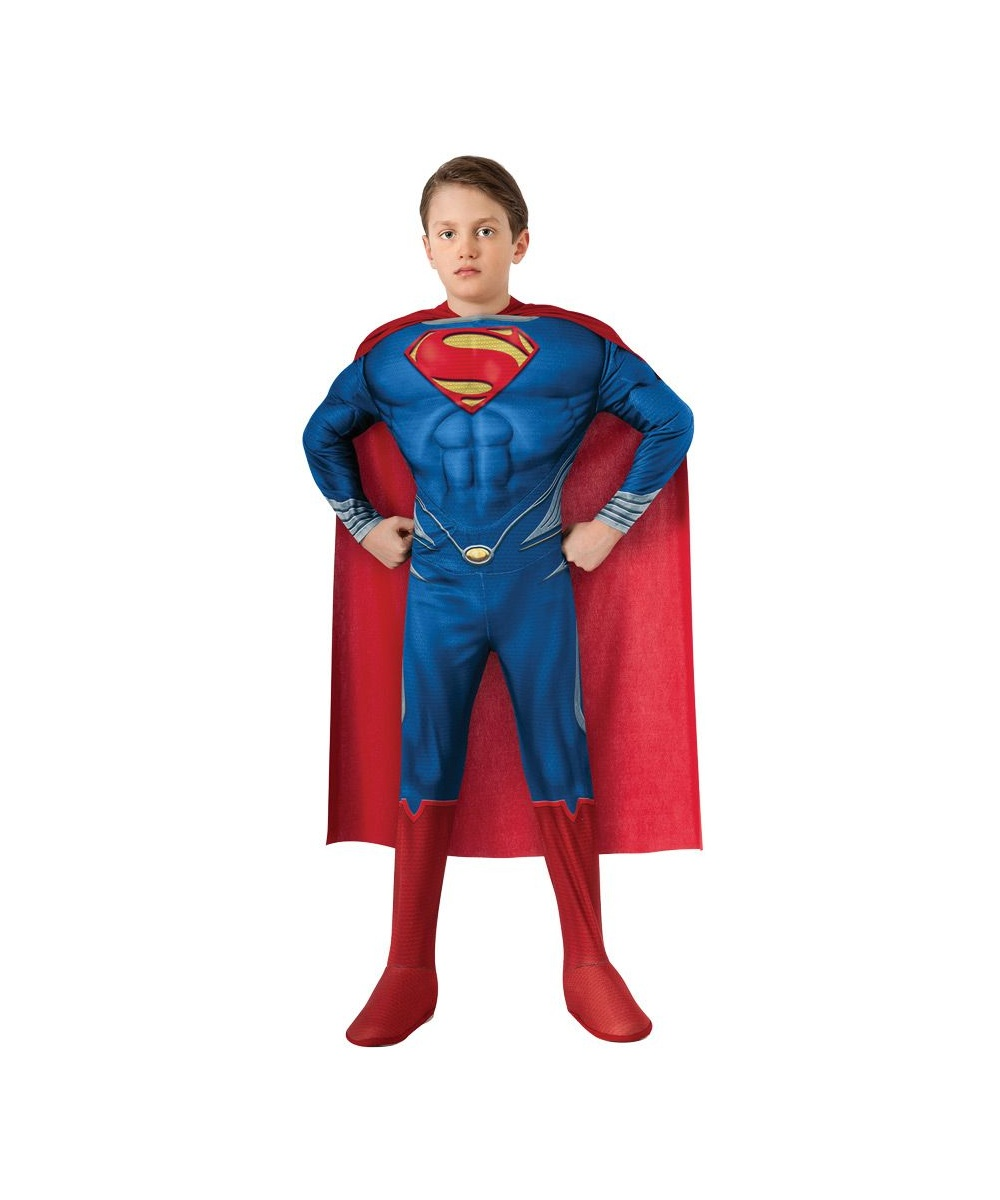 Superman costume. Kids size medium. From a clean, smoke-free home. This costume has abs! Help save Lois Lane and then send Zod to The Phantom Zone by purchasing this costume. Justice League Rubies Muscles SUPERMAN Kids Deluxe Boys Child Costume Small X. $ Buy It Now.