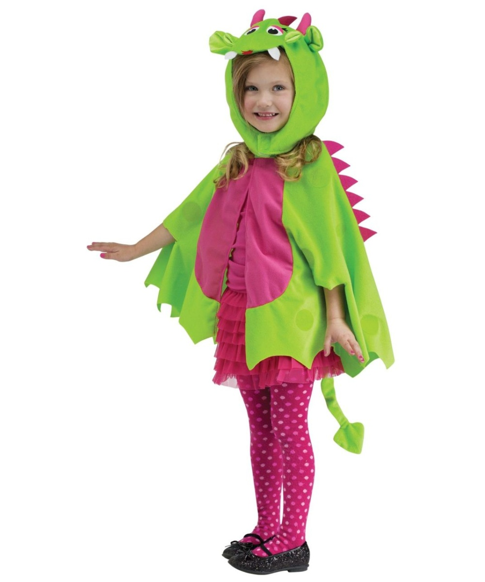 For Halloween or everyday dress-up, this sweet costume adds imagination to their day. With lots of scale-like detailing, the jumpsuit and headpiece complete the whimsical look. DETAILS THAT MATTER • Two-piece design includes jumpsuit and hea.