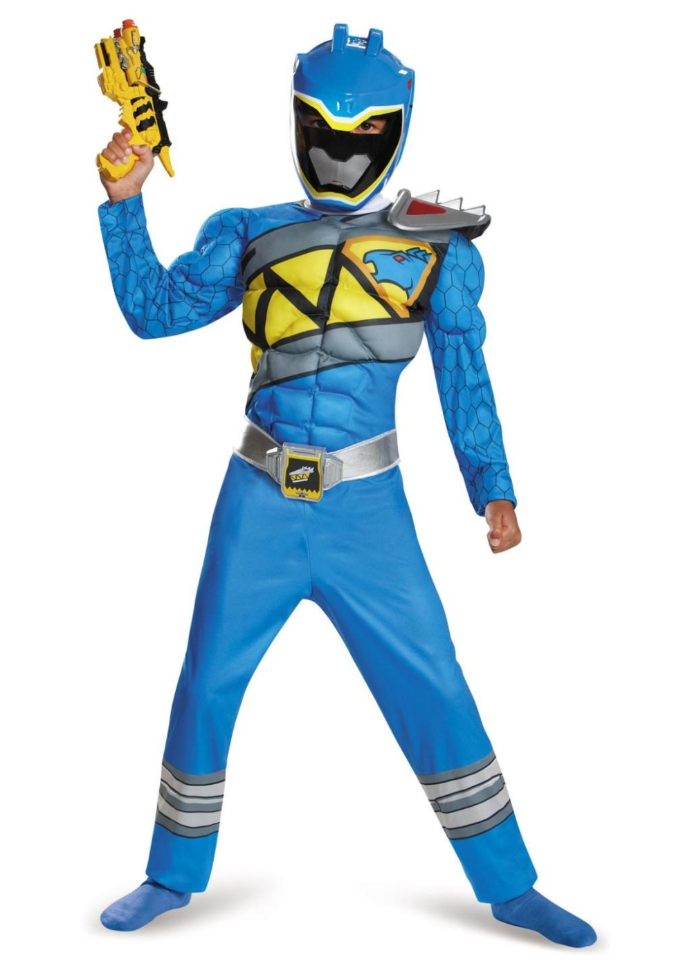 dino charge blue power ranger muscle boys costume. Black Bedroom Furniture Sets. Home Design Ideas