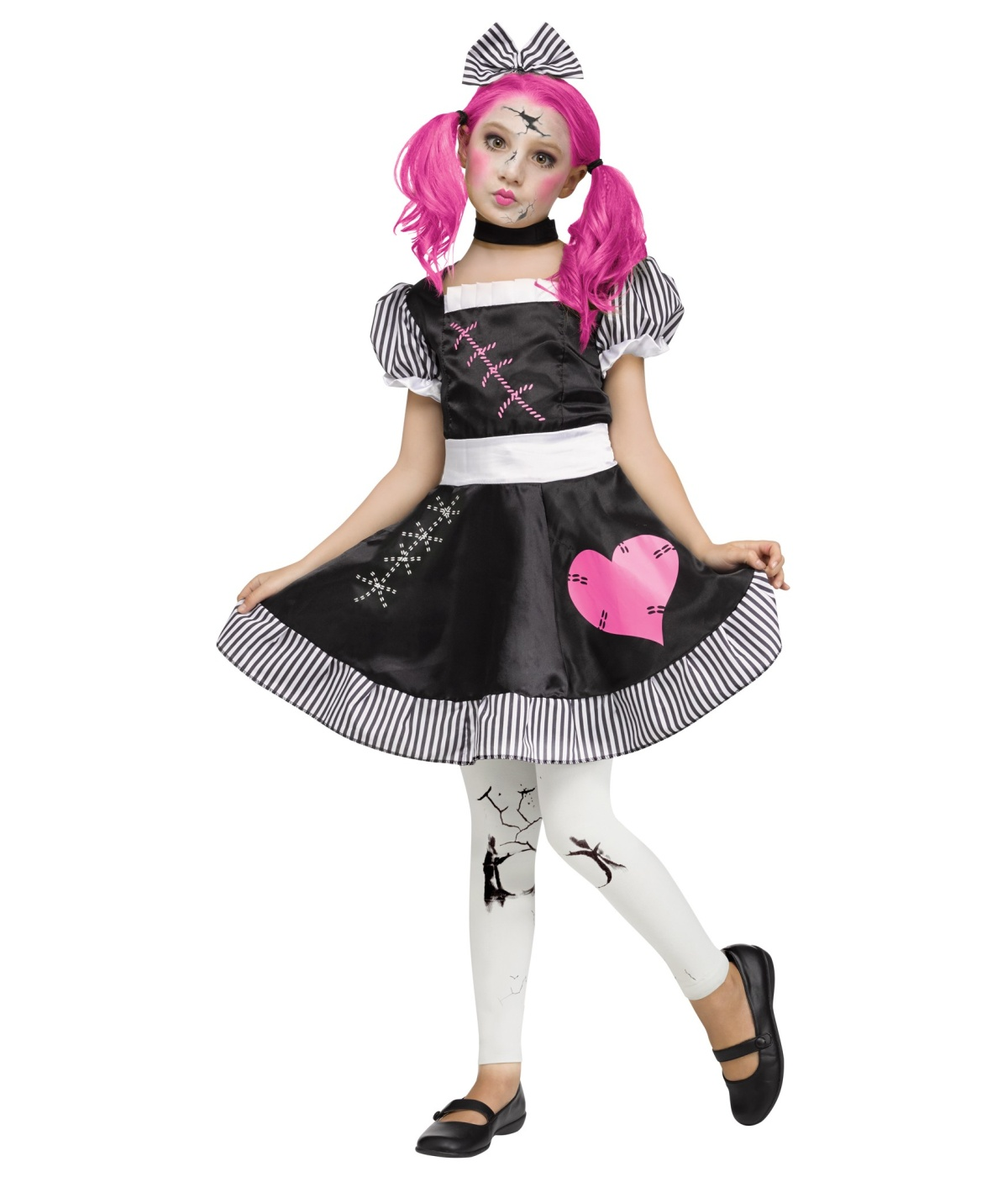 Kids Broken Doll Girls Costume