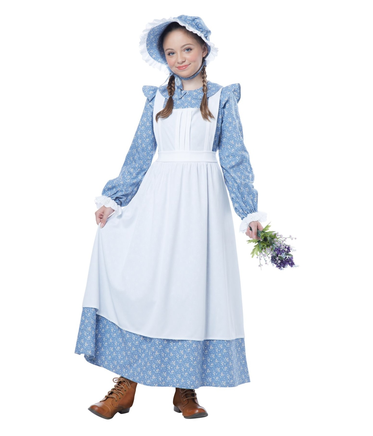 Kids Charming Pioneer Girl Dress Costume