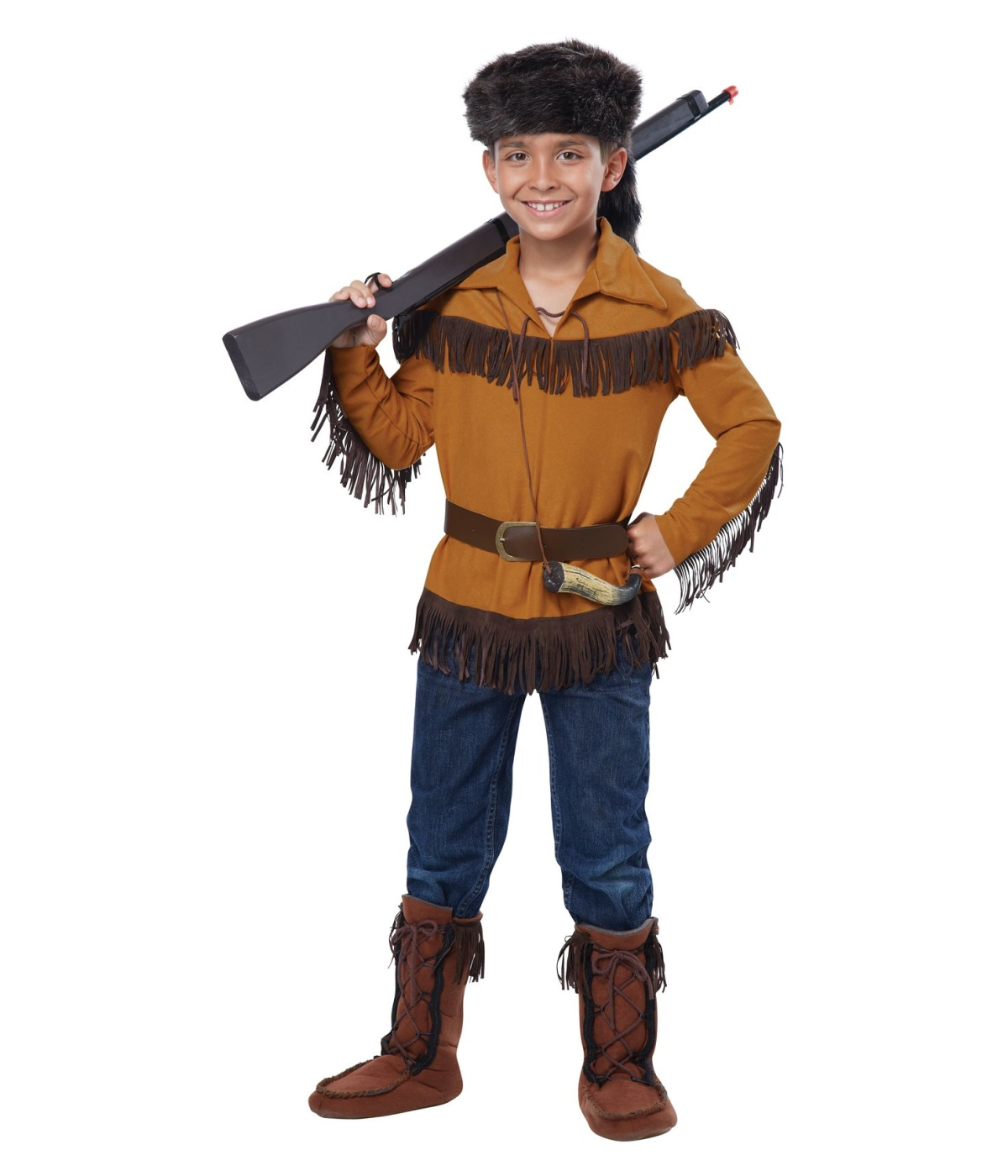 Indian Cunning Frontier Boy Davy Crockett Boys Costume