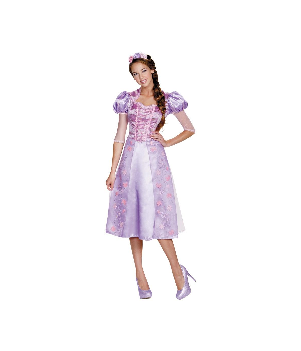 disney princess rapunzel womens dress costume. Black Bedroom Furniture Sets. Home Design Ideas