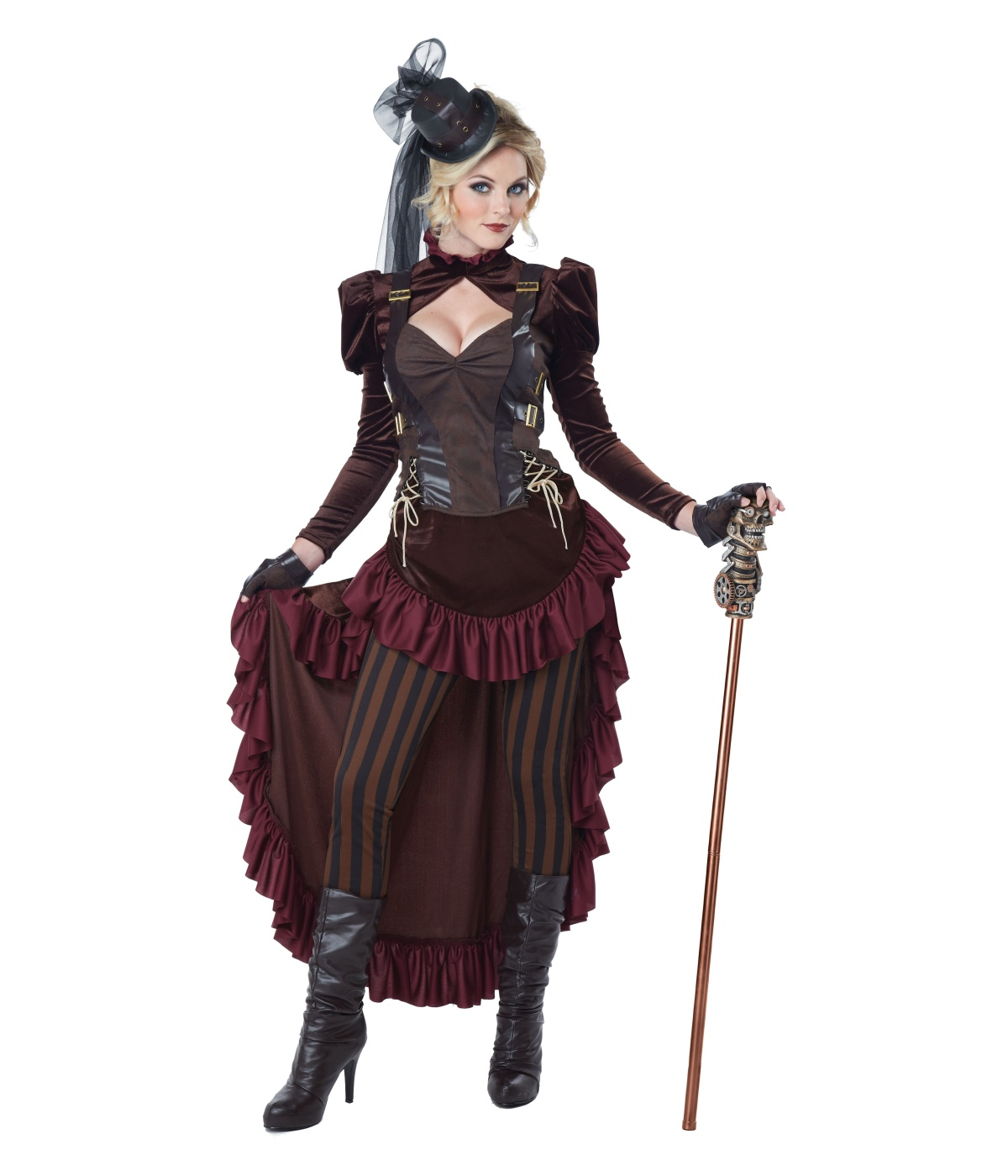 Glamorous Victorian Steampunk Woman Costume