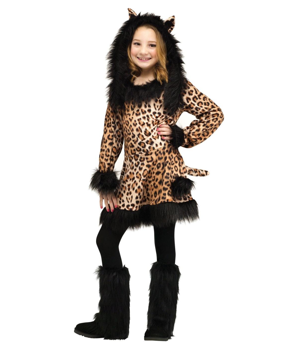 Kids lovely little leopard girls costume