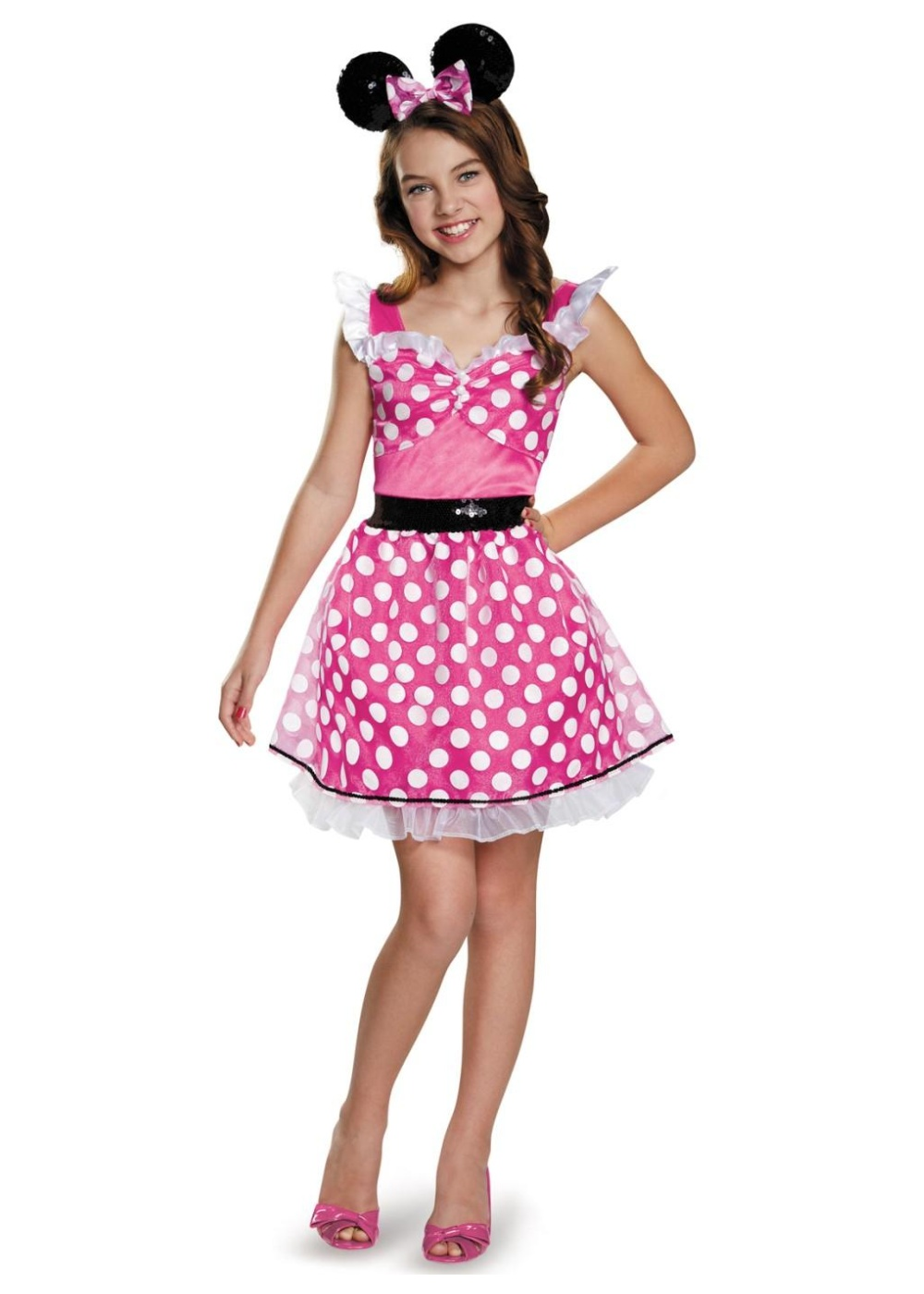 pink minnie mouse teen girl costume. Black Bedroom Furniture Sets. Home Design Ideas