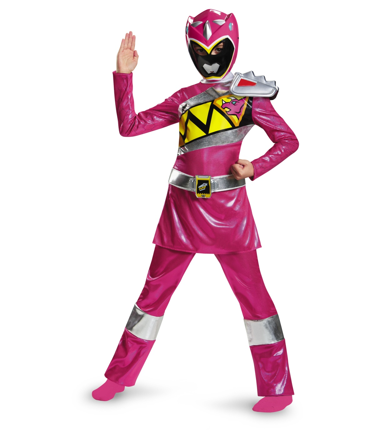 kids pink power ranger dino charge girls costume deluxe. Black Bedroom Furniture Sets. Home Design Ideas