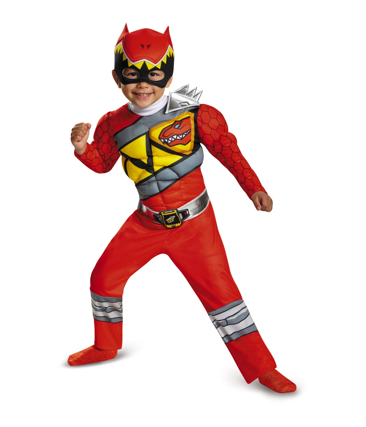 red power ranger dino charge toddler muscle costume. Black Bedroom Furniture Sets. Home Design Ideas