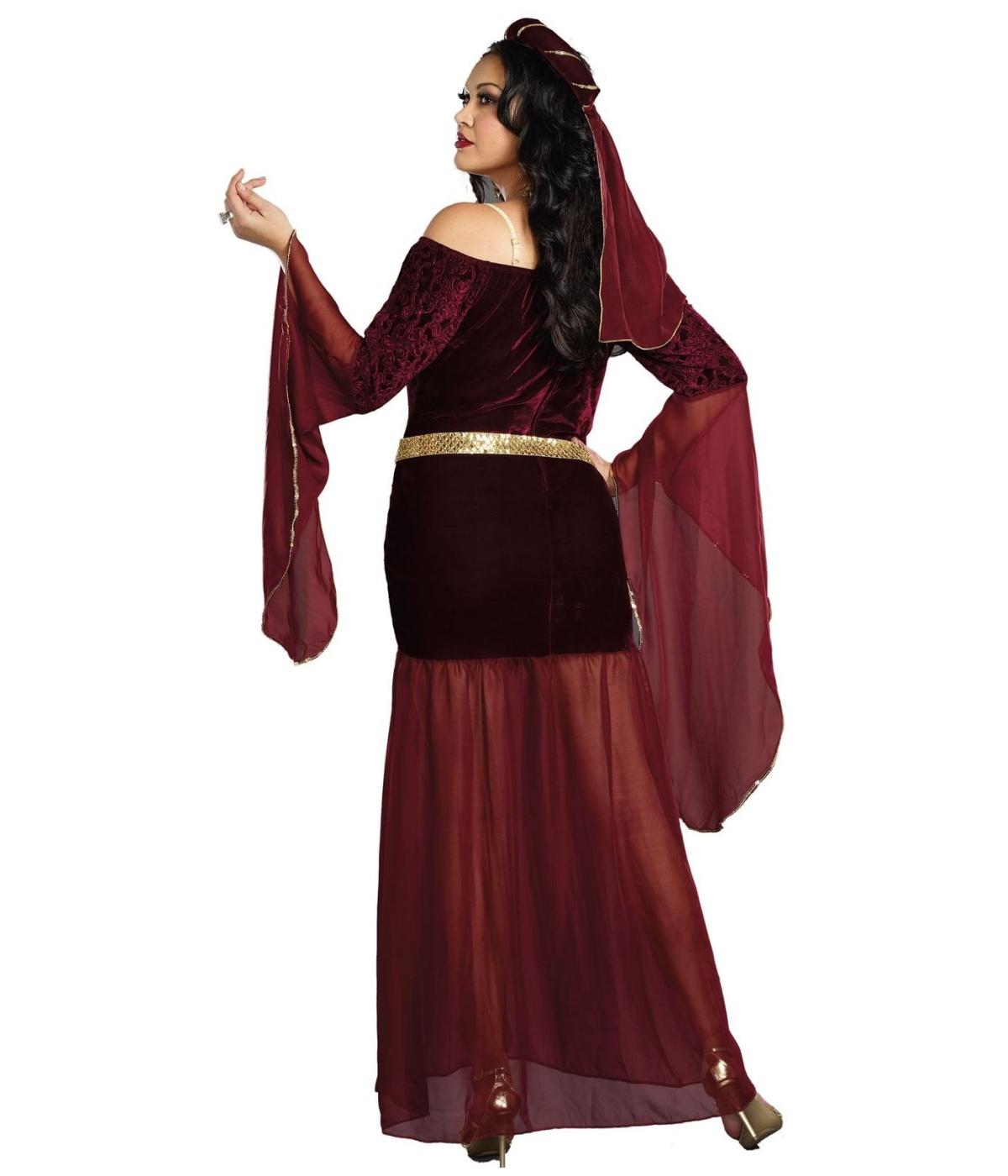 Medieval Dress Plus Size: Medieval Mistress Renaissance Womens Plus Size Costume
