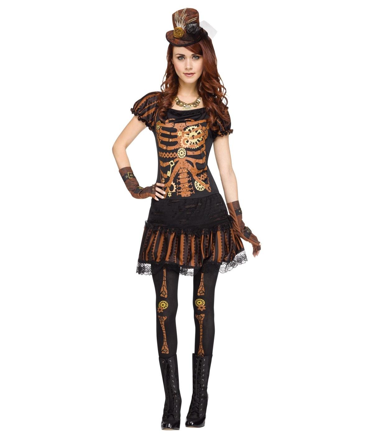 steampunk skeleton womens costume. Black Bedroom Furniture Sets. Home Design Ideas