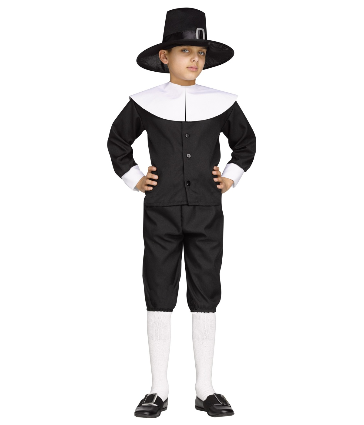 Costumes gt colonial costumes gt thanksgiving pilgrim boys costume