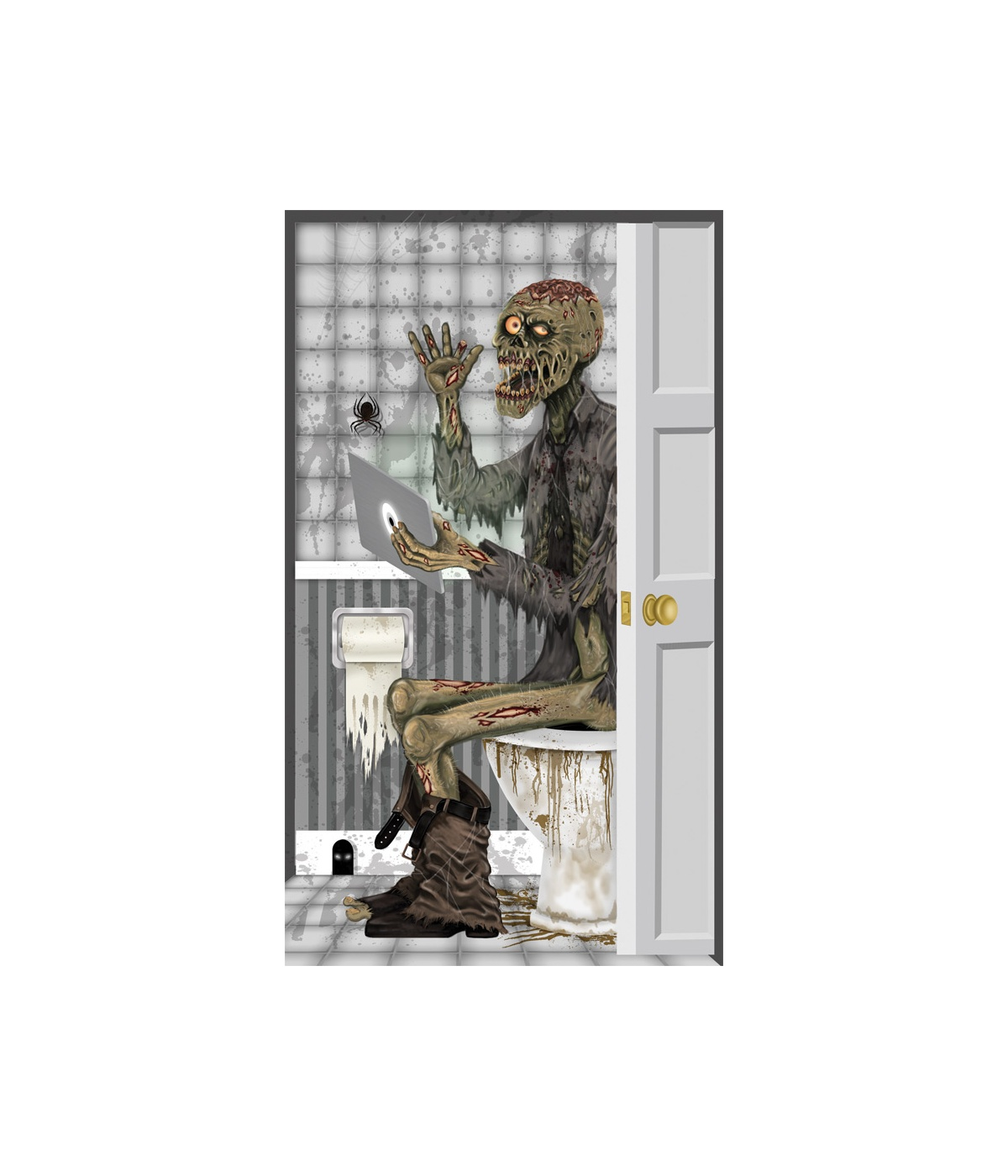 Zombie toilet door cover decoration props decorations for Zombie bathroom decor