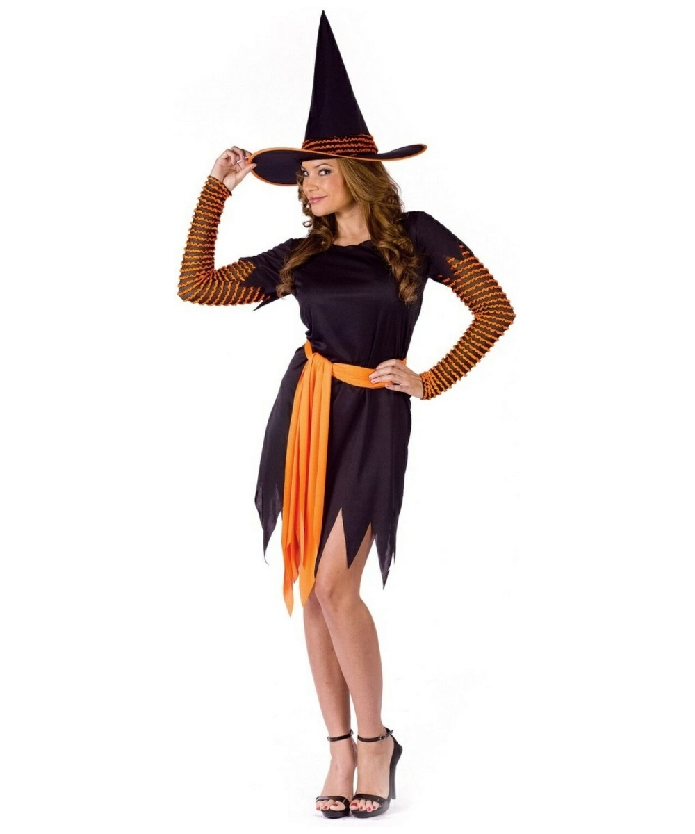 Adult Pumpkin Patch Witch Halloween Costume - Women Witch Costumes ...