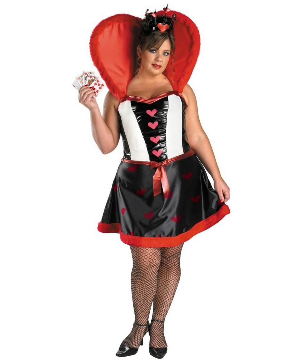 queen of hearts plus size disney costume - adult costumes