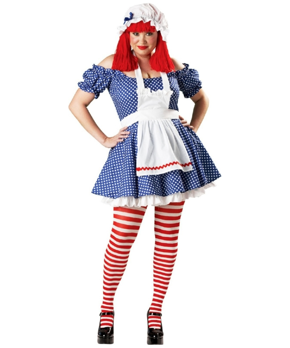 Racy Rag Doll  Plus Size Costume