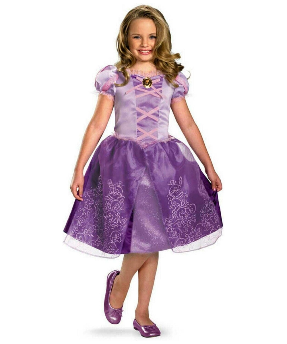 Rapunzel kids disney halloween costume girls dinsey costume