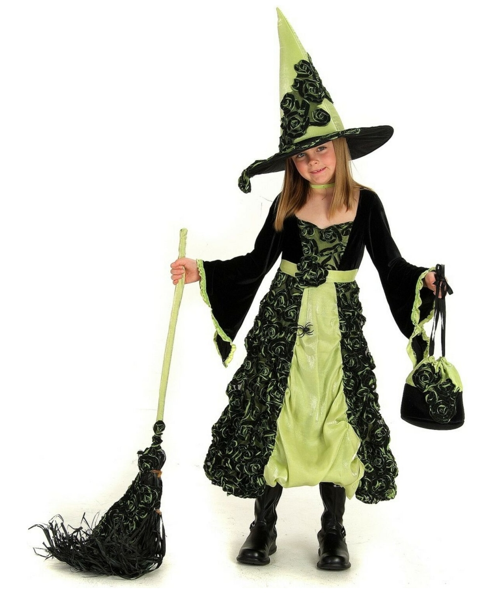 Rose Witch Costume - Kids Costume - Witch Halloween Costume at ...