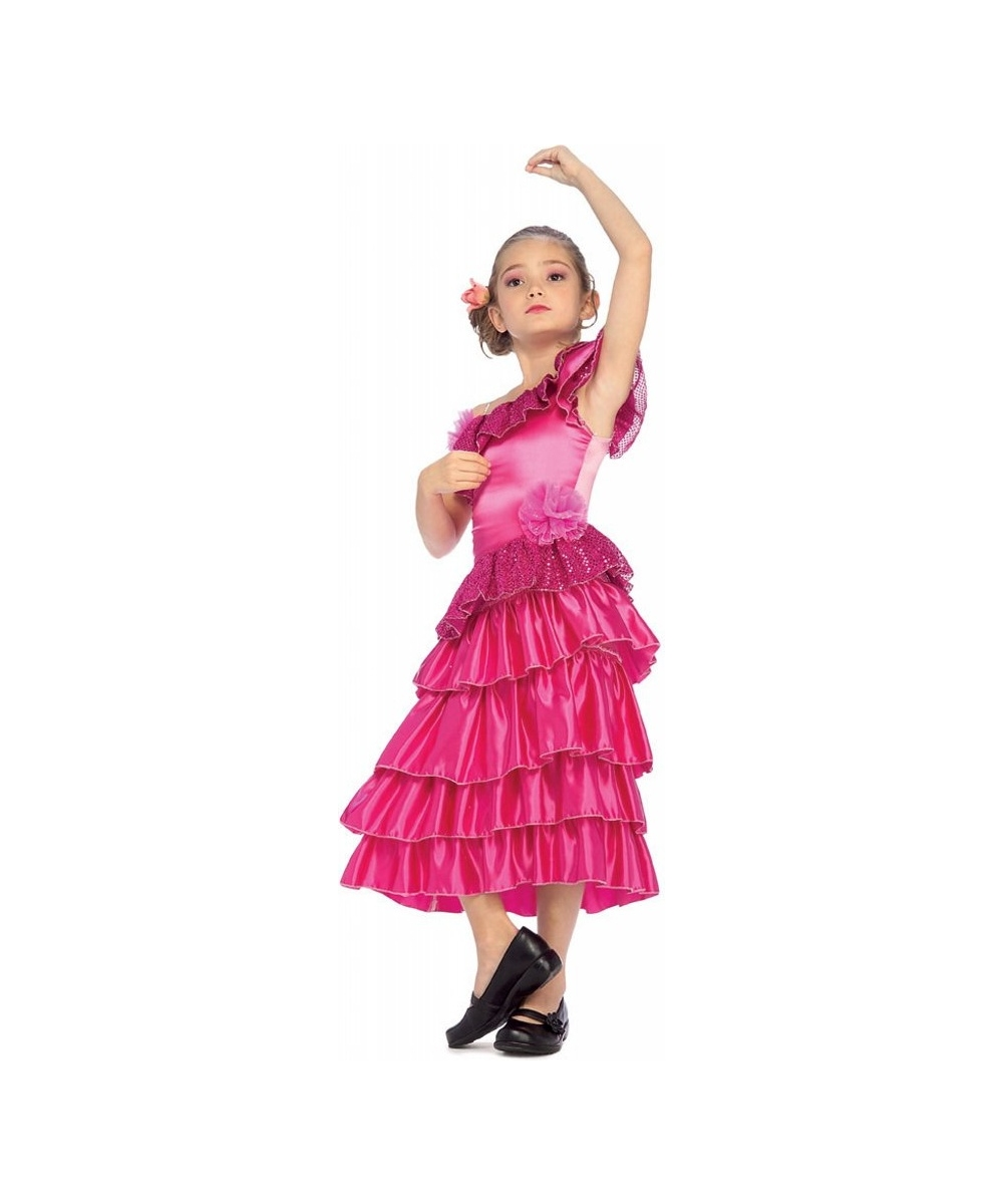 Kids Spanish Dancer Toddler/ Girl Costume
