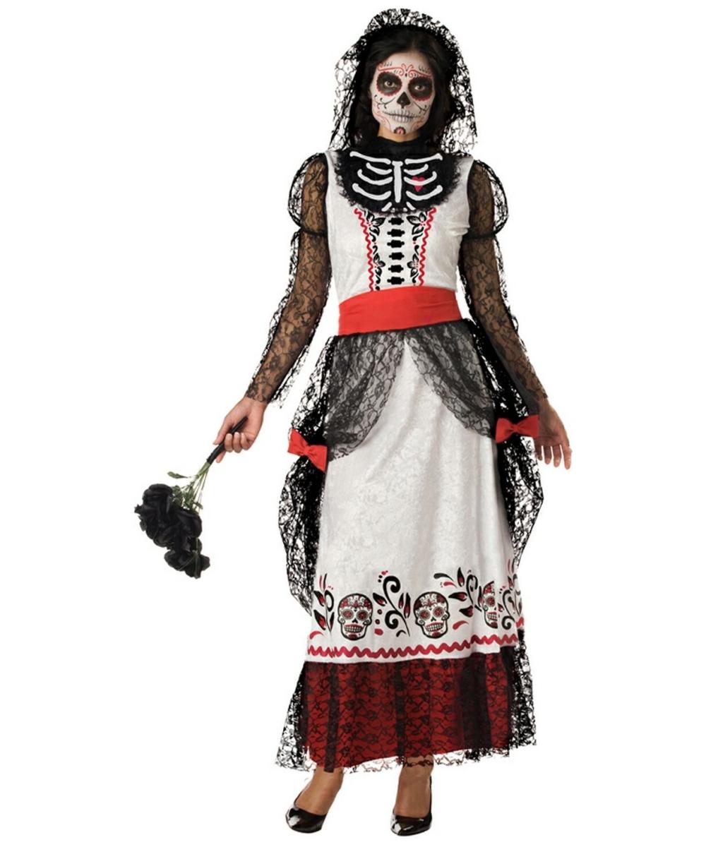 Adult Skeleton Bride Ghost Halloween Costume