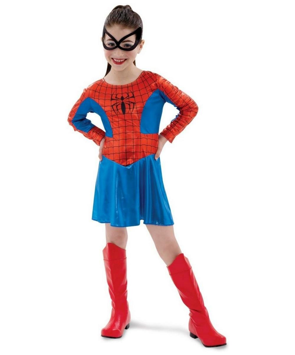 Spider Girl Costume Toddler Kids Supehero