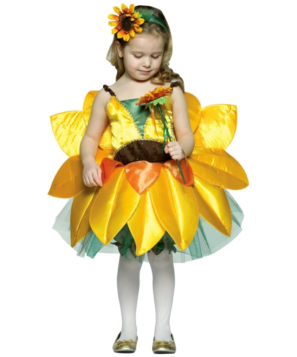 Sunflower Kids Costume