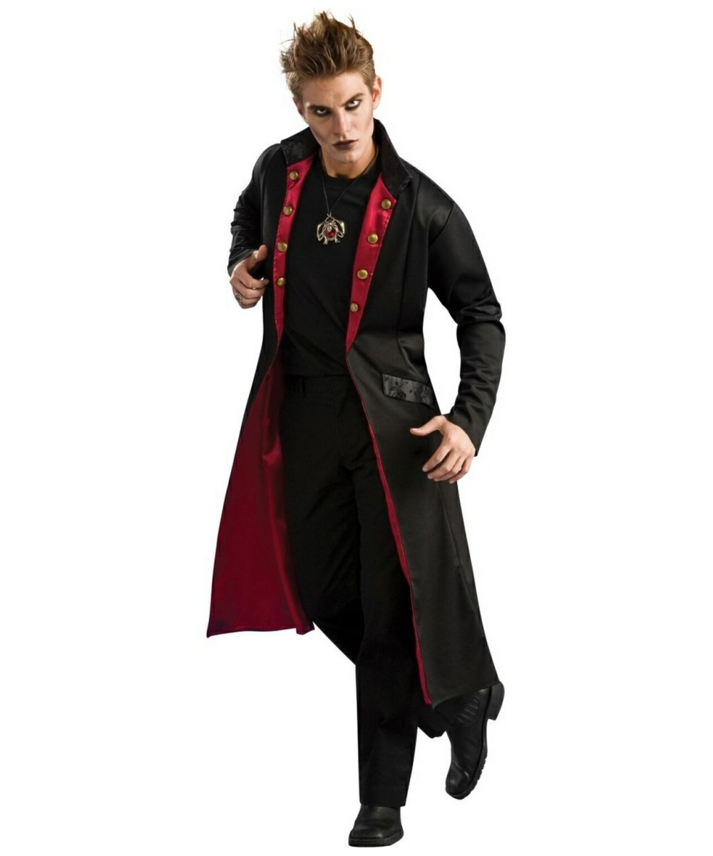 adult vampire coat halloween costume men vampire costumes. Black Bedroom Furniture Sets. Home Design Ideas
