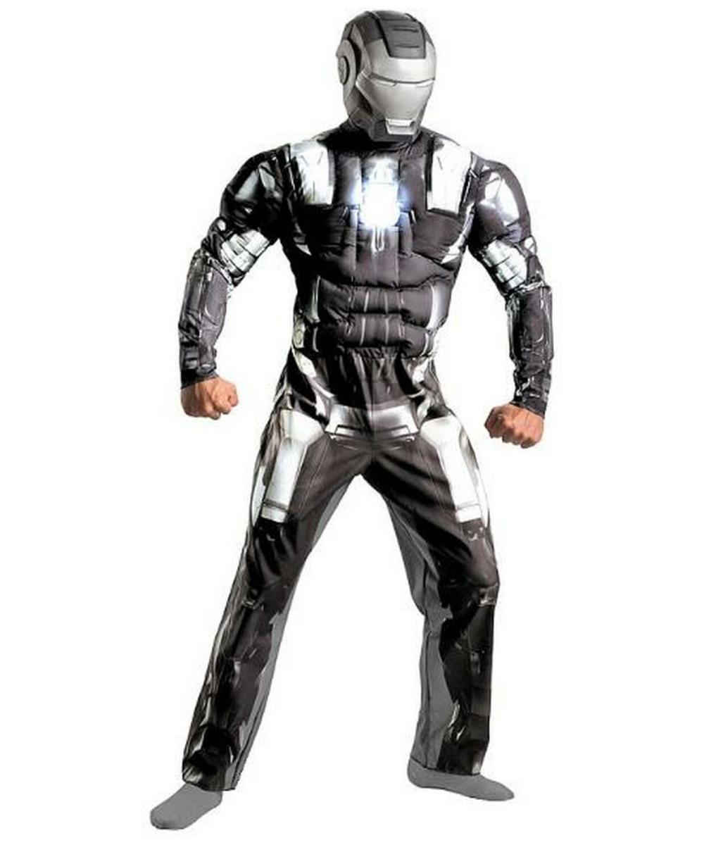 Iron Man 2: Adult Iron Man 2 War Machine Muscle Ironman Movie Costume